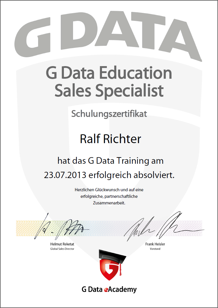 G DATA Education Sales Specialist