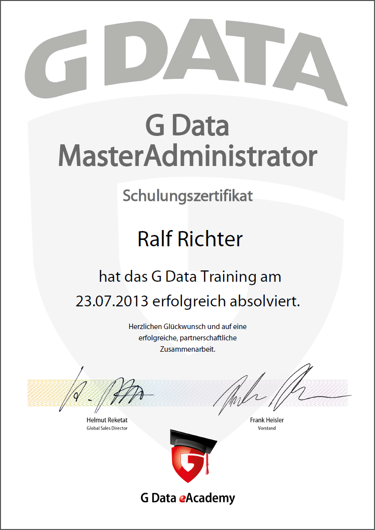 G DATA MasterAdministrator
