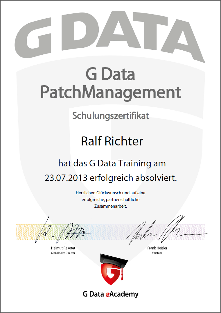 G DATA PatchManagement